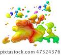 Splash and wave design 47324376