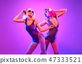 woman, sister, headphones 47333521