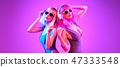 woman, sister, headphones 47333548