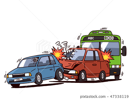 Car and Driver safety concept illustration. Driving safety campaign or education cartoon style design. 010 47338119