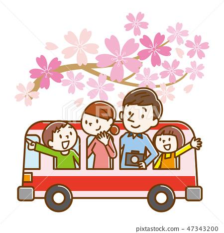 旅遊巴士家庭櫻桃樹 47343200