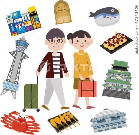 大阪觀光旅遊景點 47343406