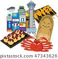 Osaka Sightseeing Travel Spot 47343626