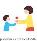 인물 소재 - 어머니의 날 이미지 (부모와 자식 3) 47345502