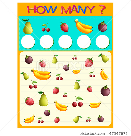 How many worksheet with many fruits 47347675