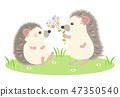 귀여운 고슴도치 쌍 04 47350540