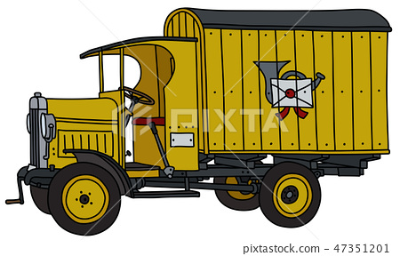 The vintage post truck 47351201