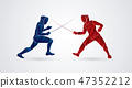 Fencing fighter graphic vector 47352212