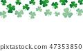 green falling shamrock clover background on white 47353850