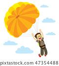 Skydiver Man Descending Happy 47354488