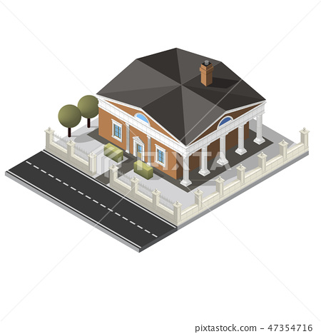 Vector isometric house 47354716
