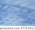 ท้องฟ้าสีฟ้าและเมฆสีขาวของชายฝั่ง inage 47354812