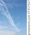 Airplane cloud and blue sky at Kemigawa river 47357027