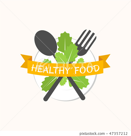 Food logo background 47357212