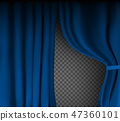 background blue fabric 47360101