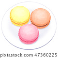 Macaron จากจานด้านบน 47360225