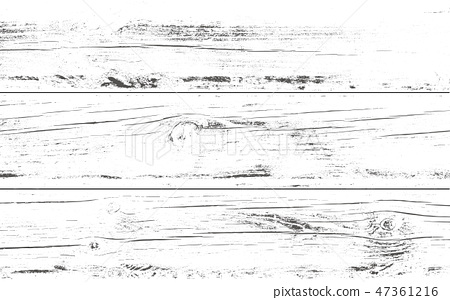 Distressed wooden planks overlay texture. Vector illustration. Wood grain background. 47361216