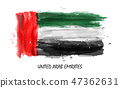 watercolor painting flag of United arab emirates 47362631