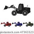 excavator icon 47363323