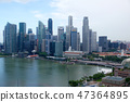 SINGAPORE - JULY 23rd, 2016: Skyscraper of downtown reflect in Marina Bay, modern business office 47364895