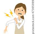 圍裙女性肩痛 47365099