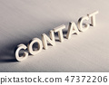 CONTACT writing made from light letters 47372206