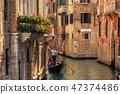 venice, gondola, venetian 47374486