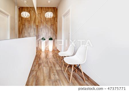 Modern waiting room, reception. Cozy minimalistic interior 47375771