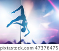 woman, dance, pole dance 47376475