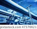 Pipes at thermal electic power station. Industry 47376621