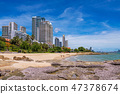 Waterfront buildings and beach area in Naklua 47378674