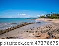 Tranquil beach in Pattaya 47378675