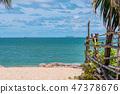 Beach view in Pattaya 47378676
