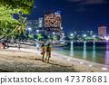 Pattaya beach at night 47378681