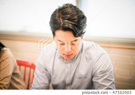 직장인,회사원,회의,비즈니스맨,젊음,비즈니스우먼,발표, 보고,캐주얼 47382003