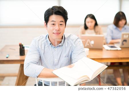 직장인,회사원,회의,비즈니스맨,젊음,비즈니스우먼,발표, 보고,캐주얼 47382056