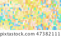 Colorful and delicate Lego mosaic closeup material texture background, top view (seamless connection, high resolution 3D CG rendering ∕ coloring illustration) 47382111
