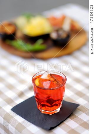 Italian aperitives/aperitif 47384223
