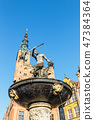 Fountain of the Neptune in Gdansk, Poland 47384364