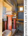 Interior of the of Minoan palace of Knossos 47384368