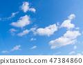 藍天天空背景背景材料 47384860