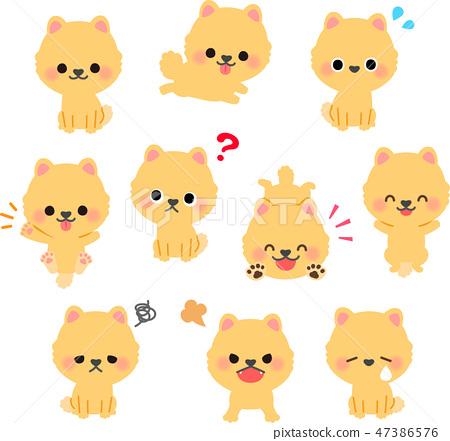 博美犬插畫集 47386576