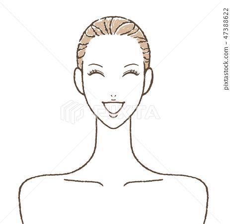 웃는 여성 스킨 케어 47388622
