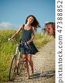 bike, field, people 47388852