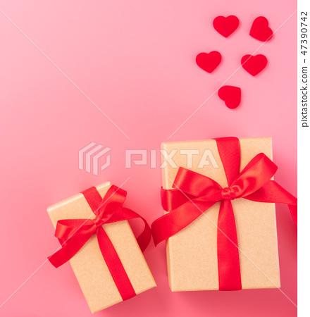 情人的節日求愛禮物縞帶瑫瑰愛情心情人節 47390742