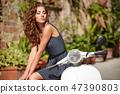 scooter, female, portrait 47390803