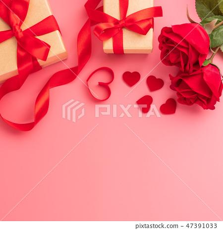 情人的節日求愛禮物縞帶瑫瑰愛情心情人節 47391033