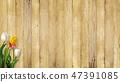 背景 - 牆 - 板 - 木紋 - 棕色 - 鬱金香 - 春天 47391085
