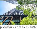 看摩天大樓的辦公室鎮的風景 47391492