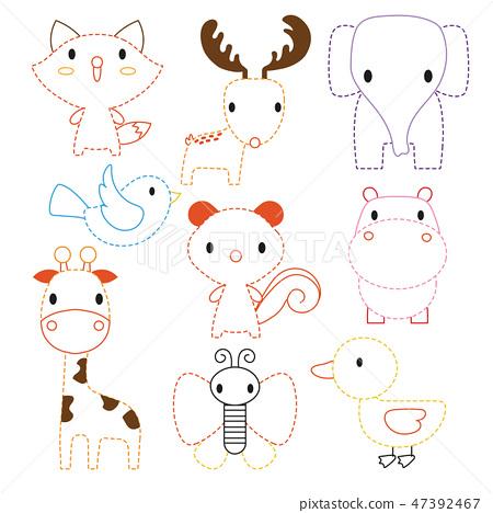 animals worksheet vector design 47392467